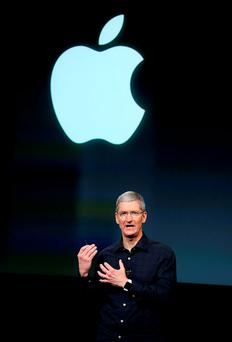Apple CEO Tim Cook has denied that the company has done anything wrong. (Photo by Justin Sullivan/Getty Images)