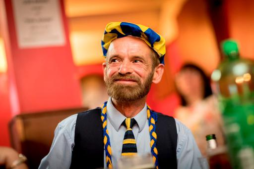 Tipperary fan Richard Tobin at the Urlingford Arms. Photo: Dylan Vaughan
