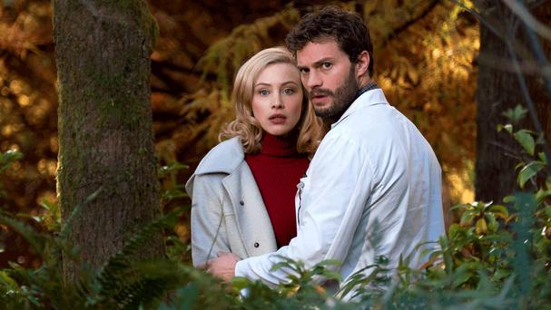 Sarah Gadon and Jamie Dornan in The 9th Life of Louis Drax