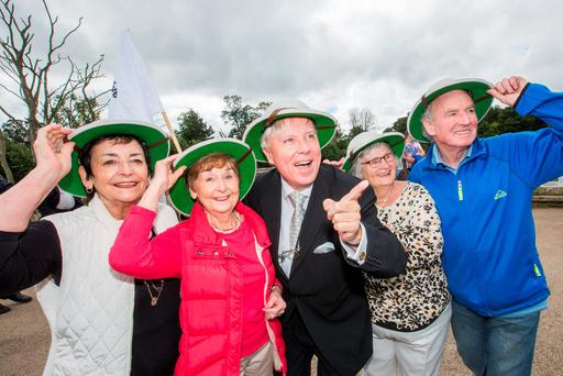 Celebrity hotelier Francis Brennan hosting  a 'Senior Safari' at the African Savanna in Dublin Zoo at the launch of Positive Ageing Week Photo: Naoise Culhane