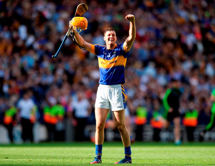 Tipperary's man of the match Seamus Callanan celebrates at the final whistle Photo by Eóin Noonan/Sportsfile