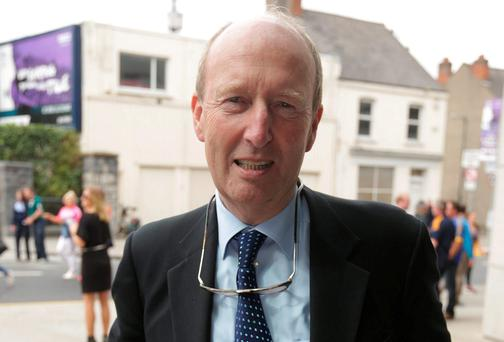 Shane Ross at the All-Ireland hurling final yesterday. Photo: Damien Eagers