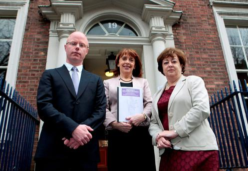 Wicklow/East Carlow TD Stephen Donnelly pictured last year with his Social Democrat co-leaders Roisin Shorthall and Catherine Murphy. Photo Tom Burke