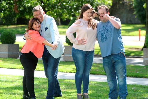 Brenda Donohue, Gerald Kean, Elaine Crowley and Karl Spain get ready for Celebrity Operation Transformation, which starts on RTÉ1 tomorrow night. Photo: Justin Farrelly
