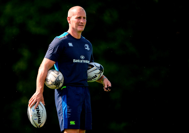 Leinster senior coach Stuart Lancaster during training at UCD in Belfield, Dublin. Photo by Seb Daly/Sportsfile