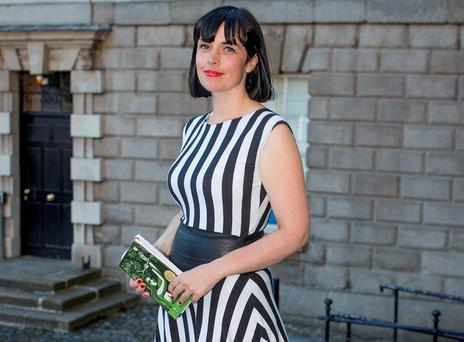 Doireann Ní Ghríofa at Trinity College for the Rooney Prize for Irish Literature 2016 award. Photo: Arthur Carron