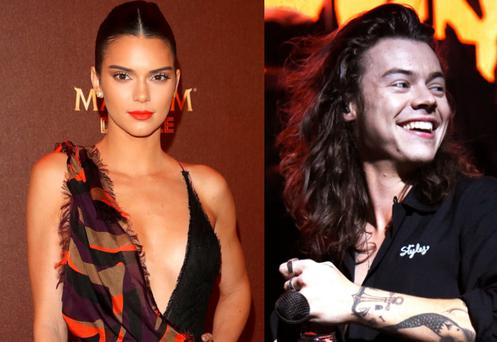 Kendall Jenner, left, and Harry Styles, right