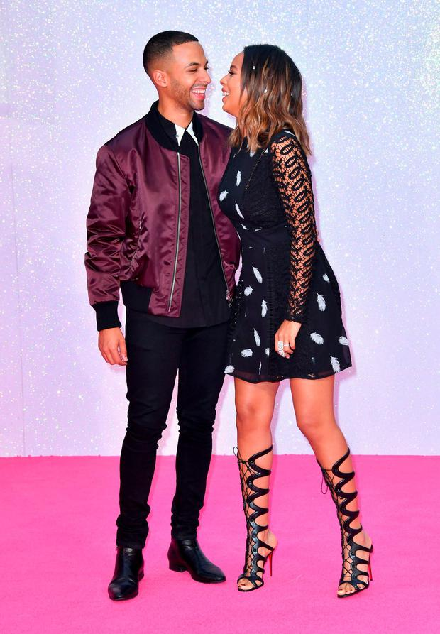 Marvin Humes and Rochelle Humes attend the