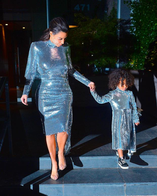 Kim Kardashian and North West seen in Manhattan on September 5, 2016 in New York City. (Photo by Robert Kamau/GC Images)