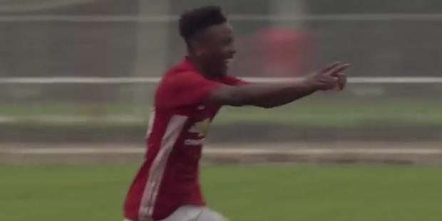 Angel Gomes finished the ball to the net after a sumptuous move