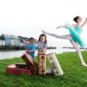 Colm and Aoife Frehill from Balllindereen and Lauren Moran from Youth Ballet West check out the programme for the 20th Baboró International Arts Festival for Children which runs in venues throughout Galway from 17 - 23 October. Photo: Andrew Downes, Xposure