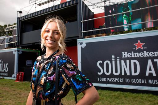 Bláthnaid Treacy enjoying the unique sounds of Amsterdam in the Heineken Sound Atlas area at Electric Picnic