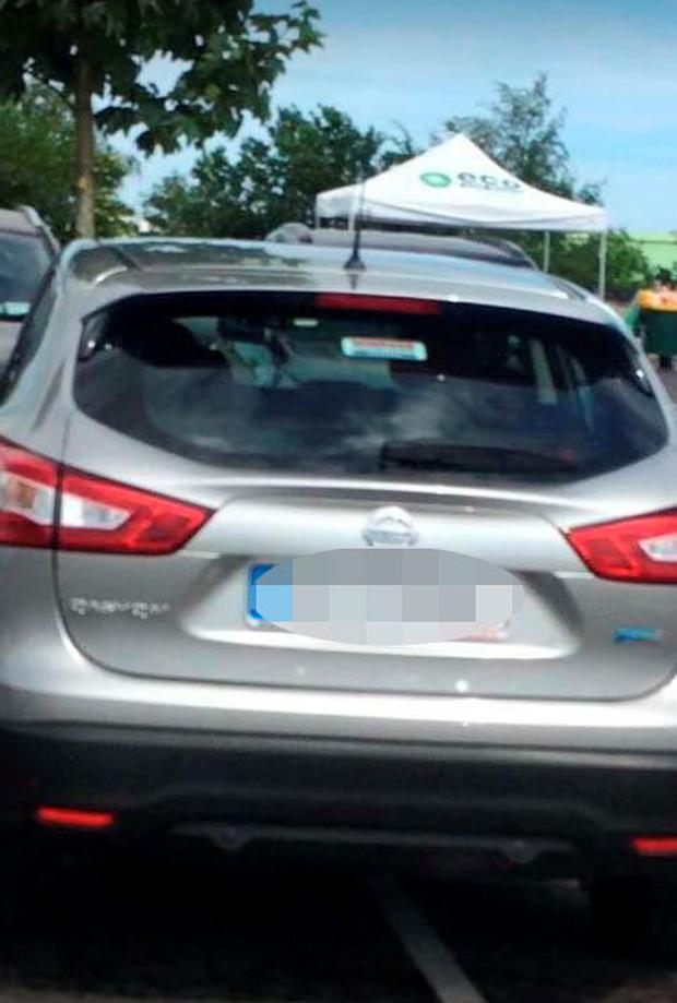 This photograph with details of the car's registration was posted on Facebook in a bid to find the car