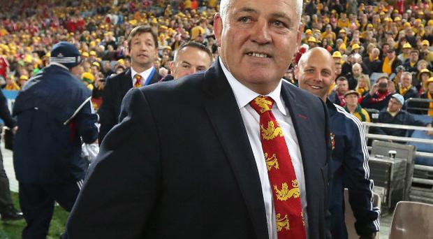 SYDNEY, AUSTRALIA - JULY 06: Warren Gatland, the Lions head coach smiles after their victory during the International Test match between the Australian Wallabies and British & Irish Lions at ANZ Stadium on July 6, 2013 in Sydney, Australia. (Photo by David Rogers/Getty Images)