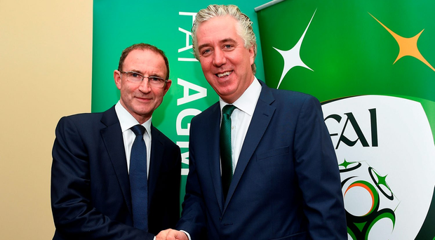 Martin O'Neill and John Delaney