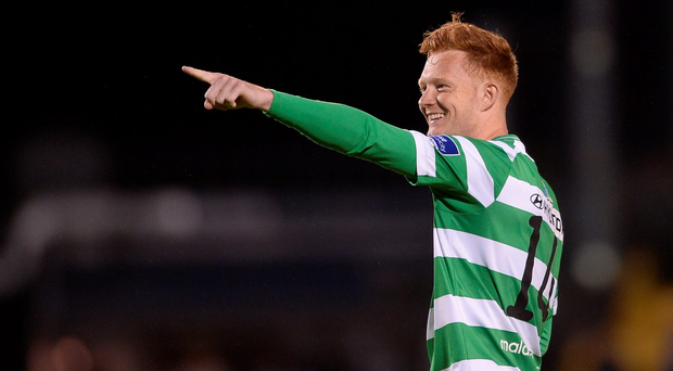 Gary Shaw celebrates after the final whistle. Photo: Sportsfile