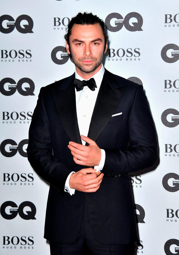 Aidan Turner arrives for GQ Men Of The Year Awards 2016 at Tate Modern on September 6, 2016 in London, England. (Photo by Gareth Cattermole/Getty Images)