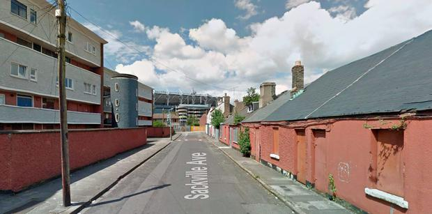 Sackville Avenue at present with the Croke Villas pictured on the left-hand side (Photo: Google Maps)
