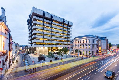 Central Bank headquarters on Dame Street in Dublin.