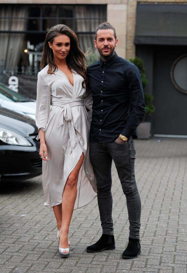 Pete Wicks and Megan Mckenna are seen on a double date with Chloe Sims and Jon Clark at the Brickyard Restaurant on March 23, 2016 in Romford, Essex. (Photo by SamanthaJ/GC Images)