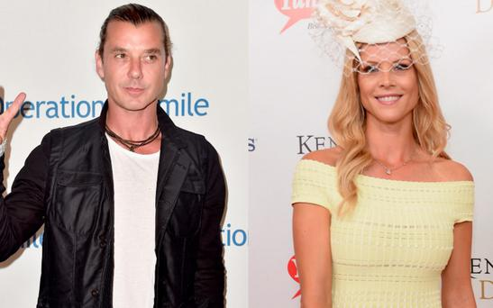 Gavin Rossdale, left, and Elin Nordegren, right