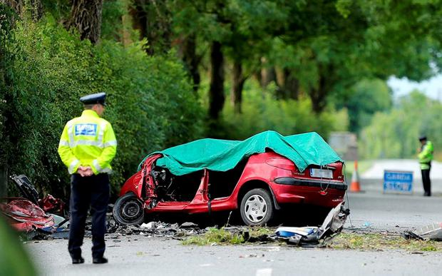FATAL: The scene on the Clane to Kilcock in July, where a young man lost his life. Photo: Gerry Mooney