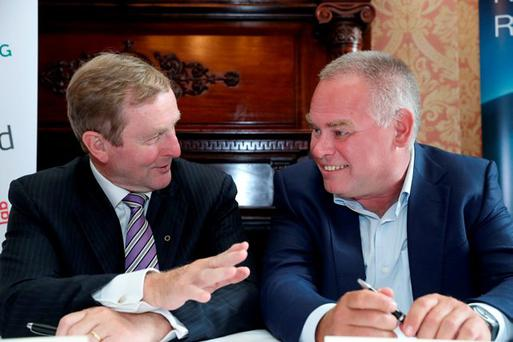An Taoiseach, Enda Kenny and Founder & CEO Eugene Kaspersky. PIC: maxwellphotography.ie