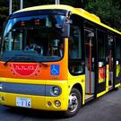 A bus in Yazu, Tottori, one of four towns partnering with SB Drive on autonomous driving tests