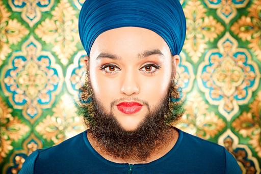 The world's youngest female with a full beard Harnaam Kaur of Slough as she appears in this year's Guinness World Records. Photo: Paul Michael Hughes/Guinness World Records/PA Wire
