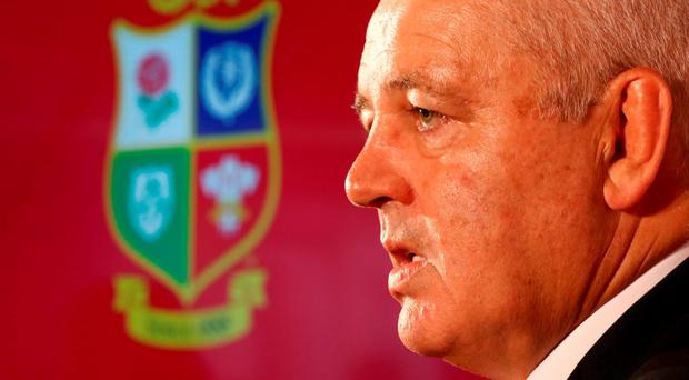 Lions head coach Warren Gatland at a press conference in Edinburgh. Photo: David Rogers/Getty Images