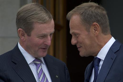 On a visit to Dublin, Mr Tusk said he and Taoiseach Enda Kenny are working to ensure Ireland doesn't suffer from a decision it had no hand in. Photo: AFP/Getty Images