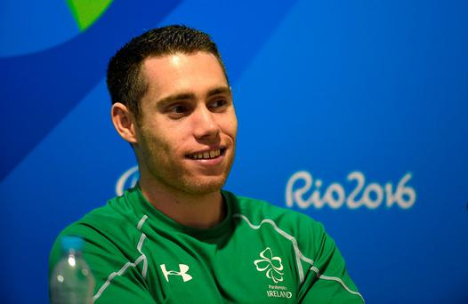 Assuming he advances, Smyth will line up for the final at 3.09pm tomorrow to try run himself into the history books with gold at a third consecutive Paralympics. Photo by Diarmuid Greene/Sportsfile