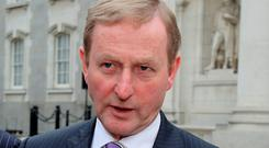 Taoiseach Enda Kenny has a battle on his hands. Pic: Tom Burke
