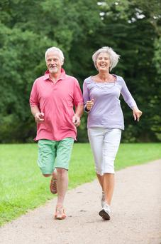 Middle-aged and older people who are not active enough are twice as likely to have depressive symptoms when compared to those who more energetic. Stock Image