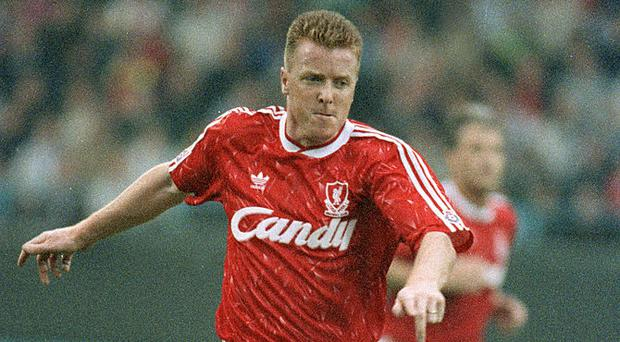Steve Nicol in action for Liverpool in 1990. Photo: Bob Thomas/Getty Images