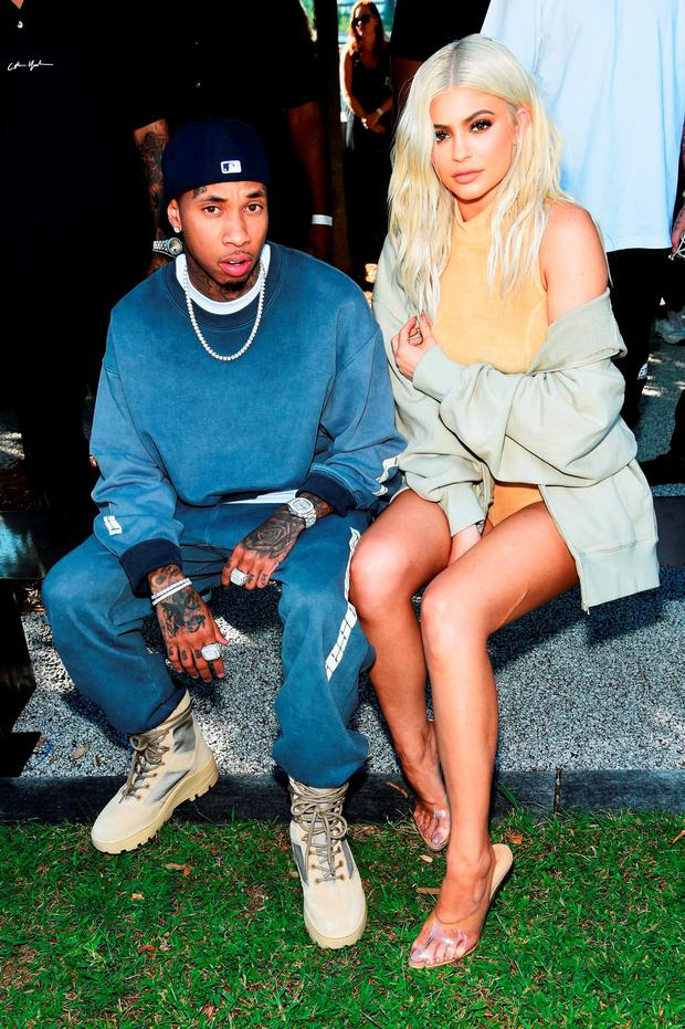 Tyga and Kylie Jenner attend the Kanye West Yeezy Season 4 fashion show on September 7, 2016 in New York City. (Photo by Jamie McCarthy/Getty Images for Yeezy Season 4)