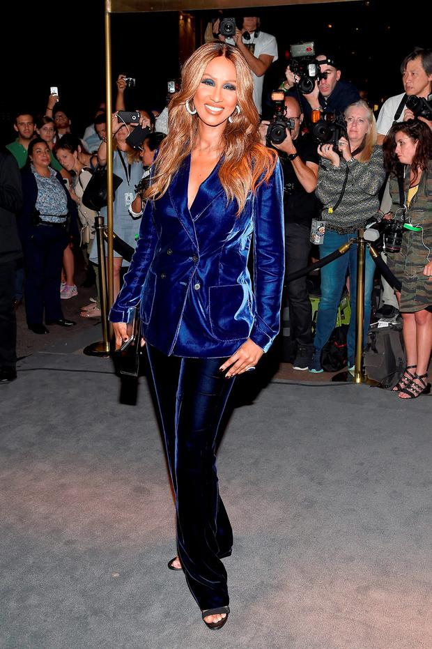 Model Iman attends Tom Ford fashion show during New York Fashion Week September 2016 at 99E 52d St. on September 7, 2016 in New York City. (Photo by Frazer Harrison/Getty Images)