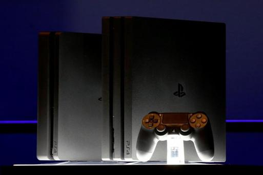 A Sony PlayStation 4 Pro is displayed during a launch event in New York City, U.S., September 7, 2016. REUTERS/Brendan McDermid