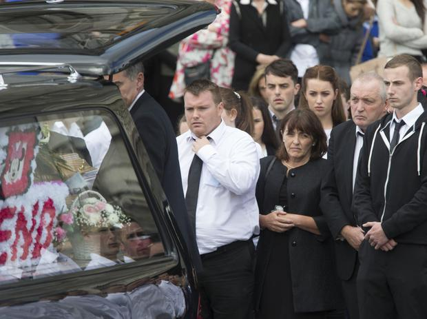 The Funeral of Nicola Kenny at The Cathederal of The Assumption, Thurles today. Pic: Colin O'Riordan