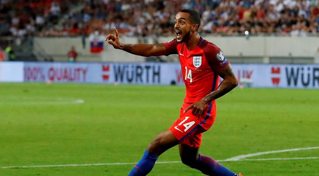Theo Walcott in action for England against Slovakia. Photo: Carl Recine / Action Images via Reuters