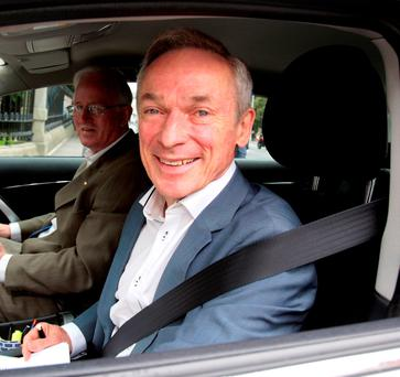 Education Minister Richard Bruton arriving at Government Buildings yesterday. Photo: Tom Burke