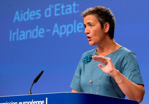 European Competition Commissioner Margrethe Vestager. (AP Photo/Virginia Mayo)