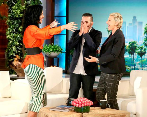 Katy Perry meets Ellen and Pulse survivor Tony Marrero