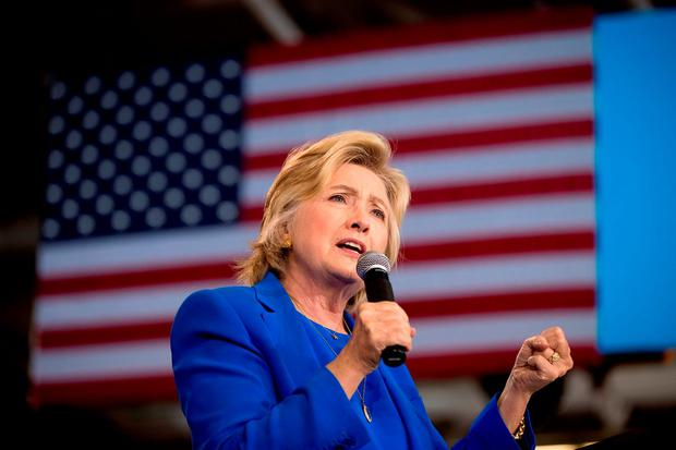 Democratic presidential candidate Hillary Clinton speaks at a rally at Johnson C. Smith University in Charlotte. Photo: AP