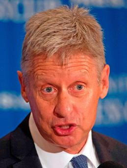 US Libertarian Party presidential candidate Gary Johnson. Photo: AFP/Getty Images
