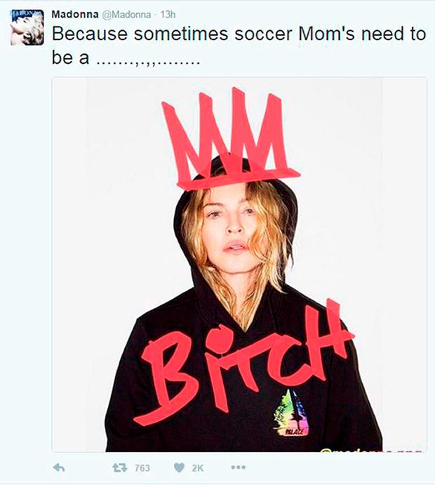 Handout screengrab of the Twitter feed of Madonna who has issued a defiant response after she lost legal efforts to have teenage son Rocco live with her rather than his father Guy Ritchie.