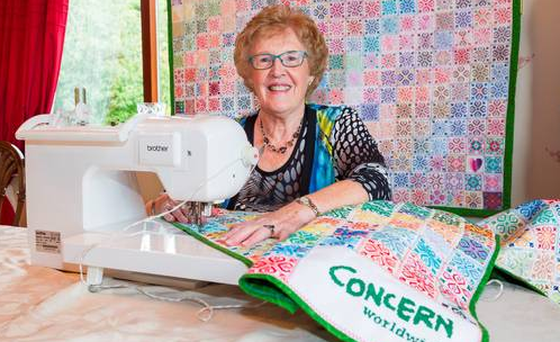 Jane Caldwell has designed wall hangings for Syrian refugee women. Photo: PA