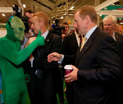 Taoiseach Enda Kenny has his own Close Encounter of the Third Kind at the Franchise Show in the RDS. Photo: Rollingnews.ie