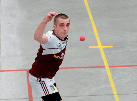 13 September 2014; Robbie McCarthy, Westmeath. M Donnelly All-Ireland 60x30 GAA Handball Men's Open Senior Singles Final, Robbie McCarthy, Westmeath v Eoin Kennedy, Dublin. Abbeylara, Co. Longford. Picture credit: Dáire Brennan / SPORTSFILE