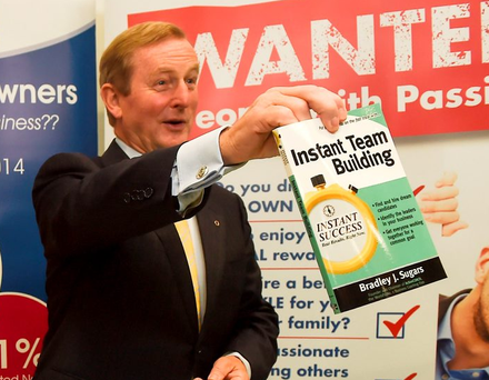 Taoiseach Enda Kenny at the official opening of The Franchise Show at the Main Hall at the RDS in Dublin. Photo: Collins